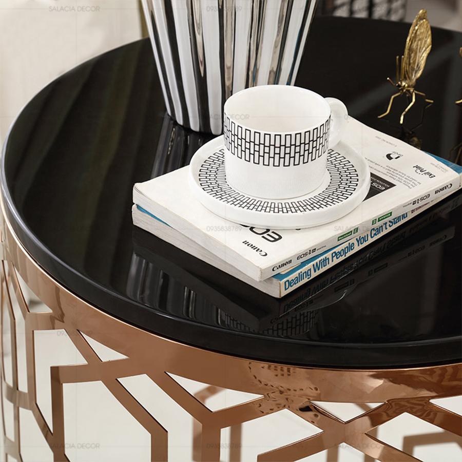 Bàn trà sofa mặt kính cường lực hiện đại