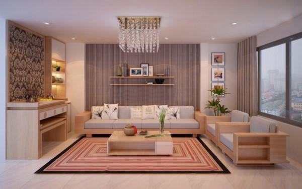 Phong thủy bàn trà sofa phòng khách hút tài lộc, may mắn