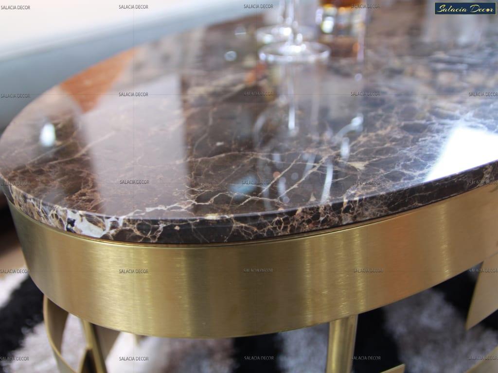 Review về các mẫu bàn trà sofa mặt đá cho phòng khách hiện đại