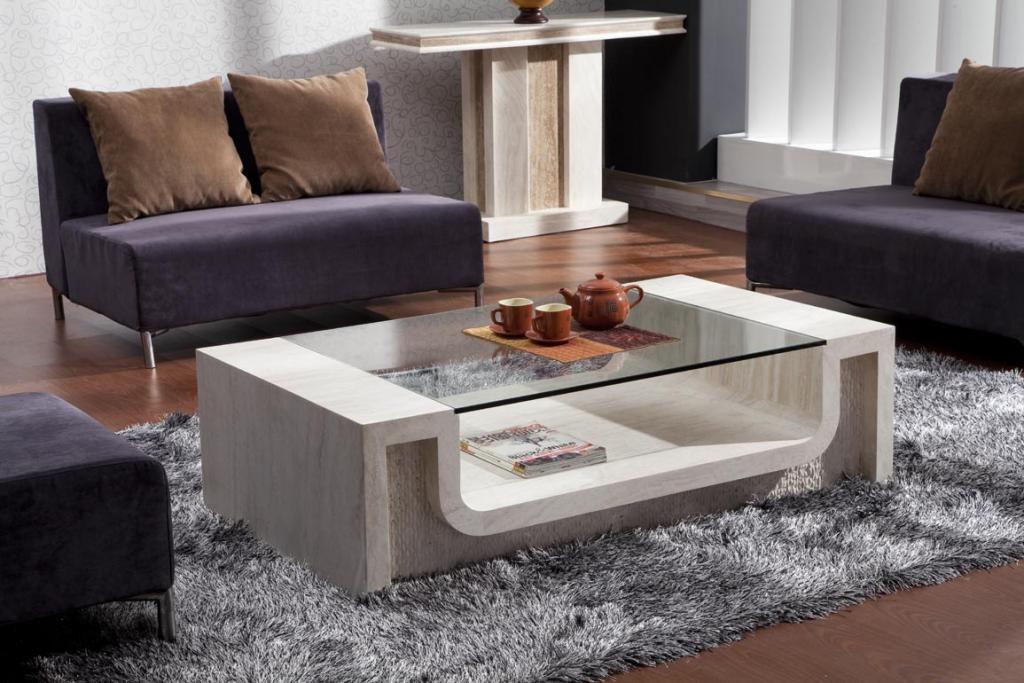 Mẫu bàn trà sofa gỗ kính sự kết hợp mới mang lại vẻ đẹp ấn tượng