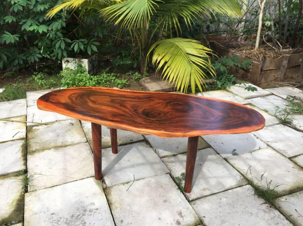 Bàn trà sofa gỗ hương tôn lên đẳng cấp không gian phòng khách nhà bạn!