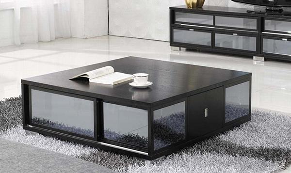 Bàn trà sofa vuông sự lựa chọn mới cho không gian phòng khách chật hẹp